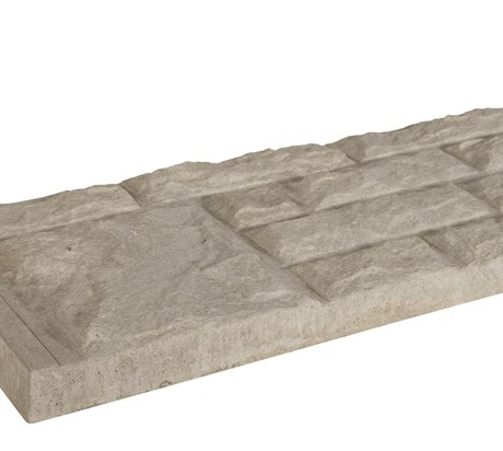 Rockfaced Concrete Gravel Board
