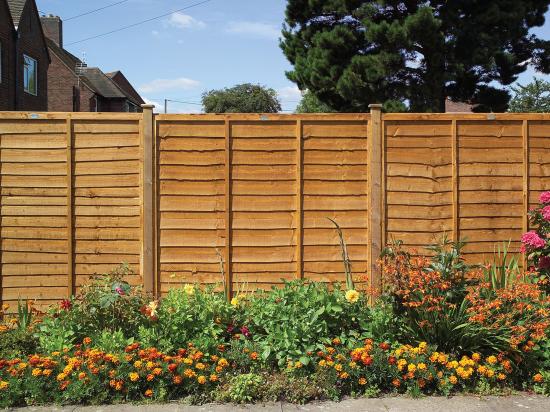 Heavy Duty Lap Fence Panel Golden Brown