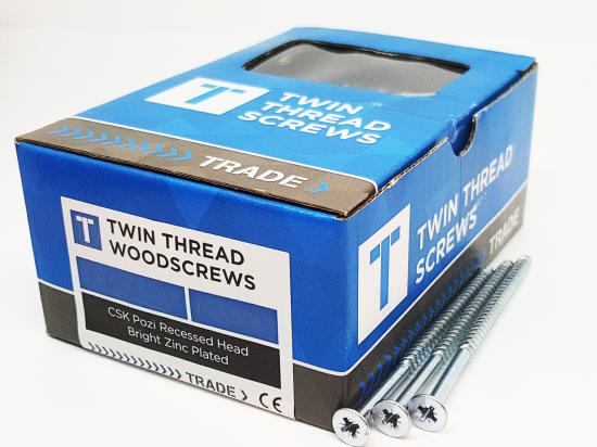 """3/4"""" x 4 Twinthread Woodscrew"""