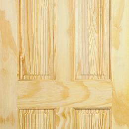 Clear Pine 4 Panel Door
