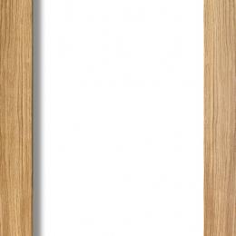 Oak Pattern 10 Internal Door with Clear Glass