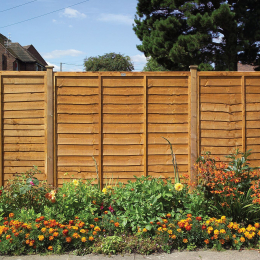 Heavy Duty Lap Fence Panel Golden Brown