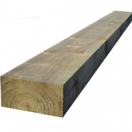 Green Treated Softwood Sleeper 125x250x2.4m